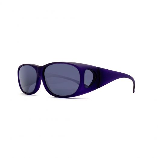Polarized Cover Sun Glasses-Purple Frame With Gray Lens