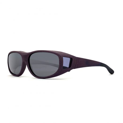 Polarized Cover Sun Glasses For Kids-Matte Purple Frame With Gray Lens