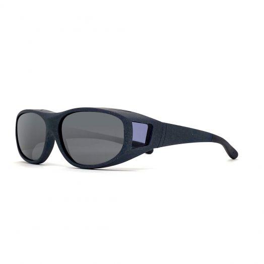 Polarized Cover Sun Glasses For Kids-Matte Gray Frame With Gray Lens